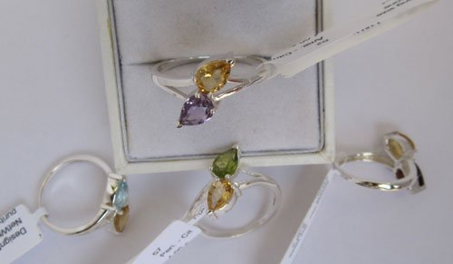 Gold Ring with Citrine & Amethyst