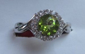 Gold Ring With topaz and peridot