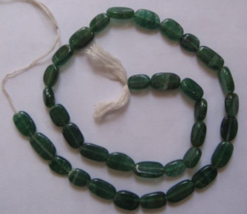 Green aveturine plain oval gem beads.