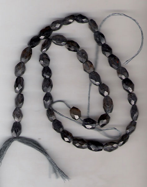 Iolite oval fac. beads
