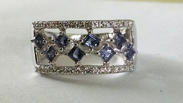 Iolite square ring