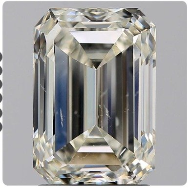 Diamond octogan faceted