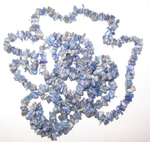 Lapis chip gem beads.