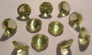 Lemon Quartz Diamond Round Cut