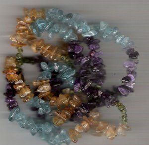 Multi stone chip gem beads