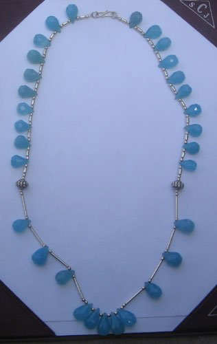 Multi stone gem bead necklace