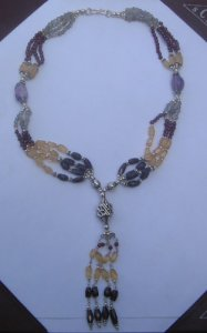 Multistone gem bead necklace