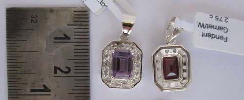 Pendant With Amethyst  & White Topaz