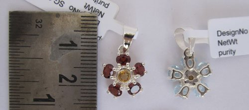 Pendant With Citrine & Garnet