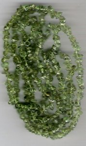Peridot chip gem beads