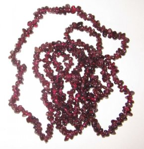 Red garnet chip gem beads.