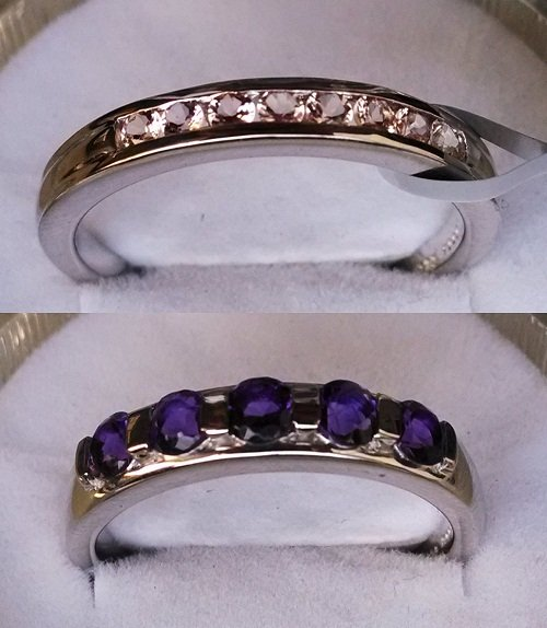 Set of Amethyst-topaz Ring