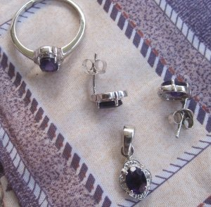 Set With Amethyst & topaz