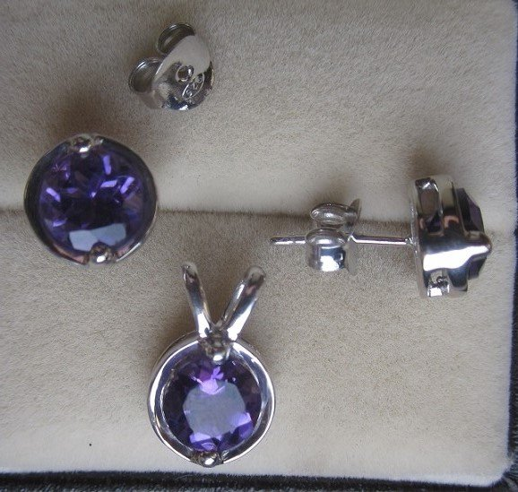 Set With Amethyst