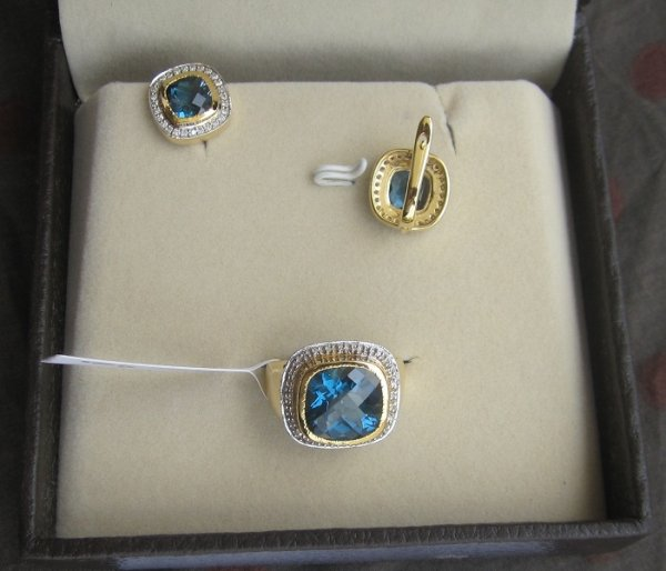 Set With Blue topaz