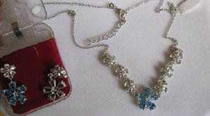Set With white  & Swss blue topaz