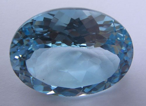 Sky Blue topaz oval cut 23x18mm