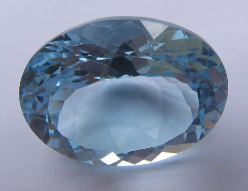 Sky Blue topaz oval cut 24x18mm