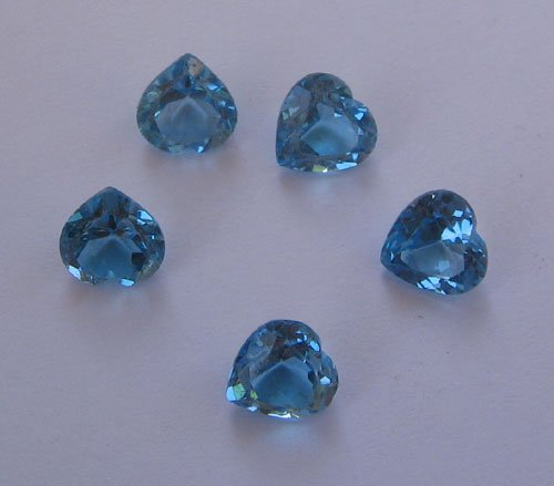 Swiss Blue Topaz Fancy Heart Shape Cut