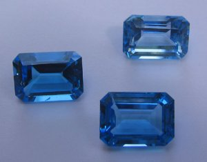 Swiss Blue Topaz Octagon Cut