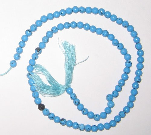Syn. turquise plain round beads 4mm
