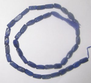Syn.lapis rectangle fac.gem beads