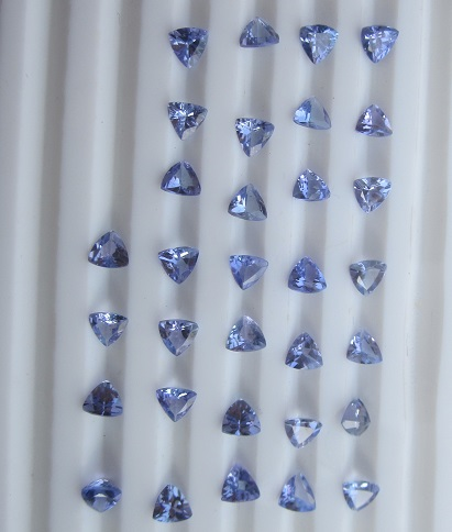 4mm Trillion cut Tanzanite AA
