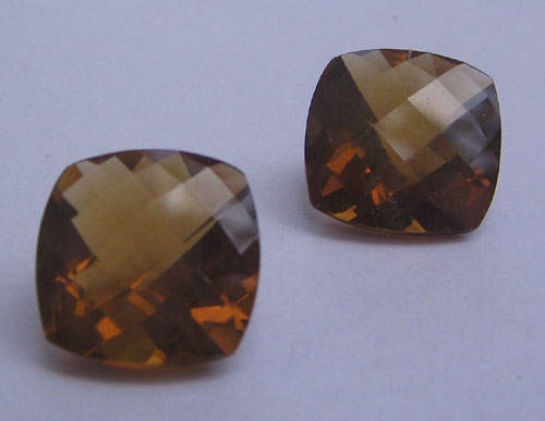 Whisky quartz 12mm fancy cushion checker