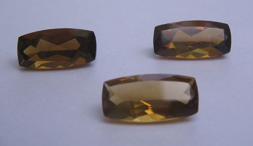 Whisky quartz 7x14mm fancy baguette cut