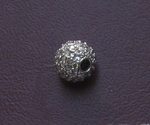 White gold diamond bead