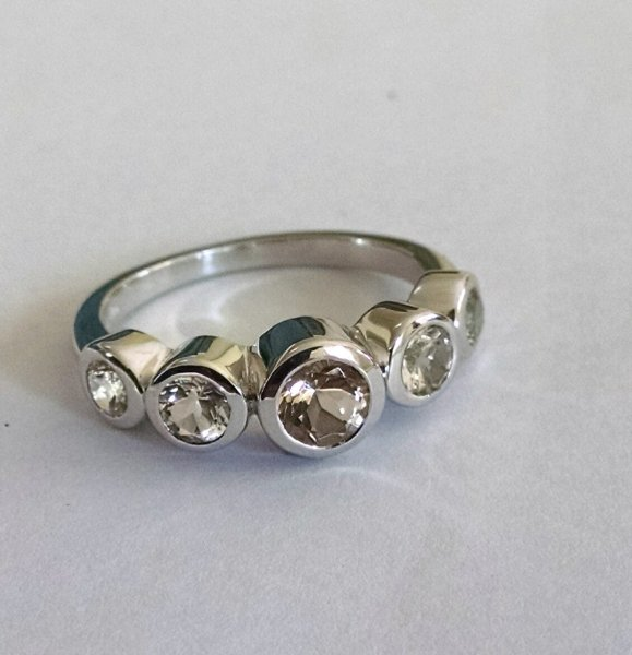 White topaz band