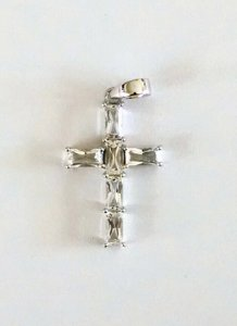 White topaz Cross pendant