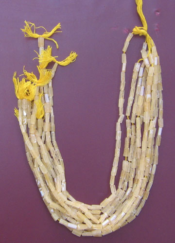 Yellow Aventurine plain sq. tube