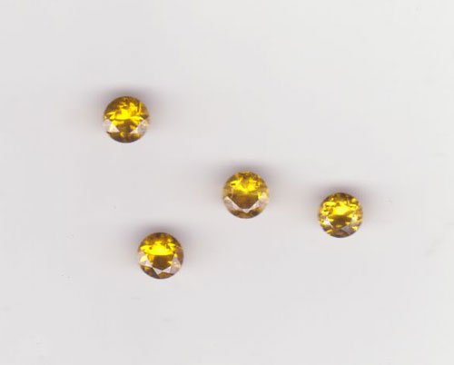Yellow Gold Zircon Rd. Cut