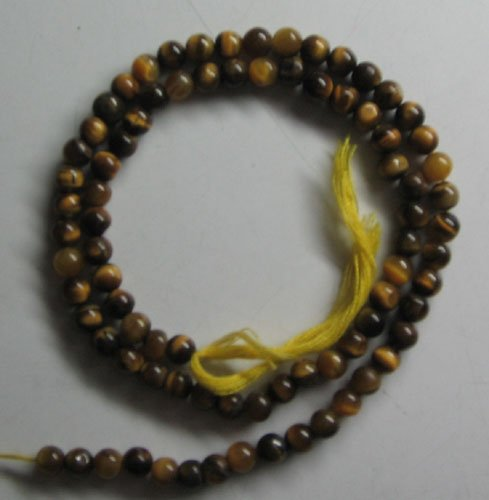 Yellow tiger eye plain round beads 4mm